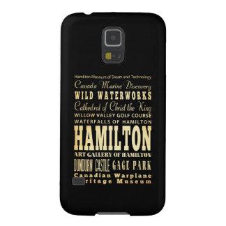 Ciudad de Hamilton del arte de la tipografía de Funda Para Galaxy S5