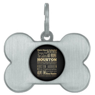 Ciudad de Houston del arte de la tipografía del es Placa Mascota