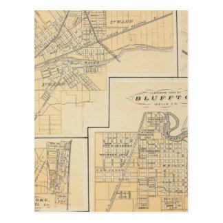 Ciudad de Huntington, Huntington Co Tarjeta Postal