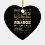 Ciudad de Indianapolis del arte de la tipografía d Adornos