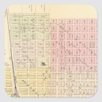 Ciudad de Kearney, Nebraska Calcomanía Cuadradas Personalizada