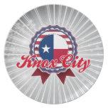 Ciudad de Knox, TX Platos De Comidas