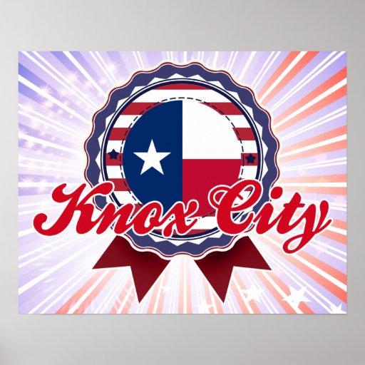 Ciudad de Knox, TX Poster