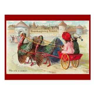 Ciudad de la acción de gracias del vintage tarjeta postal