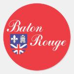 Ciudad de la bandera de Baton Rouge Pegatinas Redondas