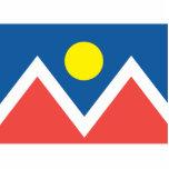 Ciudad de la bandera de Denver Escultura Fotográfica
