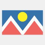 Ciudad de la bandera de Denver Rectangular Pegatinas