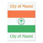 Ciudad de la bandera de Miami Invitación Personalizada