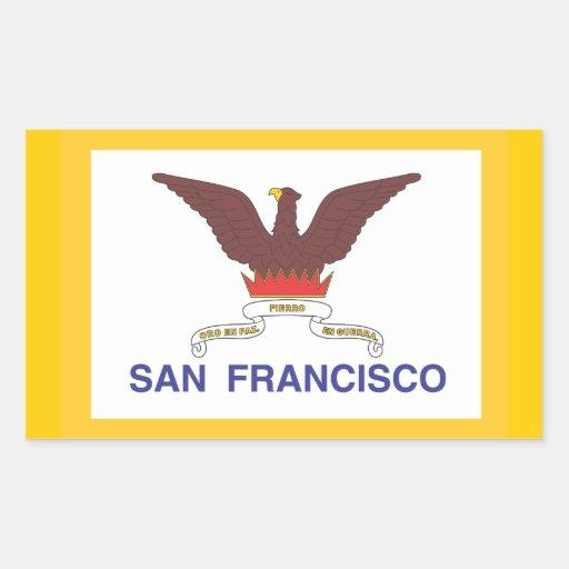 Ciudad de la bandera de San Francisco Rectangular Altavoz
