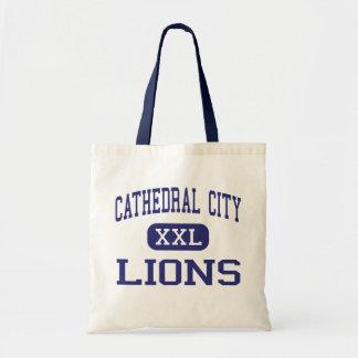 Ciudad de la catedral - leones - alta - ciudad de bolsas de mano