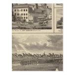 Ciudad de la cervecería del lago storm, edificio tarjetas postales