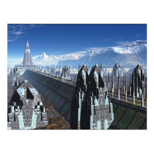 Ciudad de la ciencia ficción postal