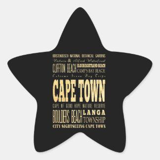 Ciudad de la ciudad del café del arte de la pegatina en forma de estrella