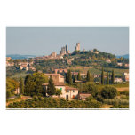 Ciudad de la colina de San Gimignano, Toscana, Ita Fotografias