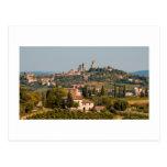 Ciudad de la colina de San Gimignano, Toscana, Ita Tarjetas Postales