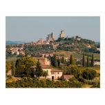 Ciudad de la colina de San Gimignano, Toscana, Ita Postales