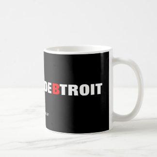 Ciudad de la deuda de Detroit Taza Básica Blanca