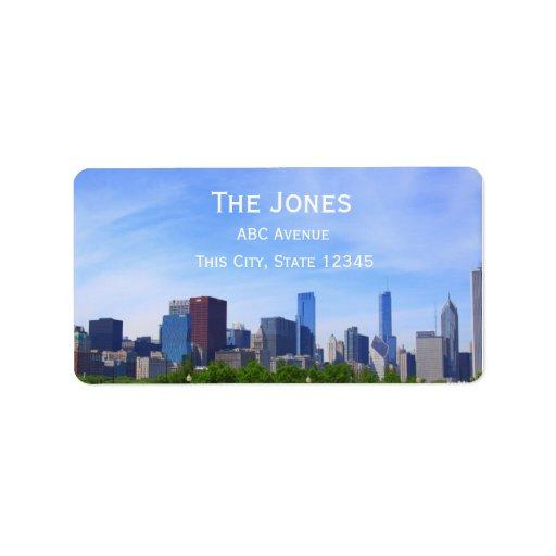Ciudad de la dirección de Chicago/de la etiqueta Etiquetas De Dirección