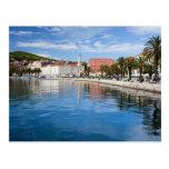 Ciudad de la fractura en Croacia Postales