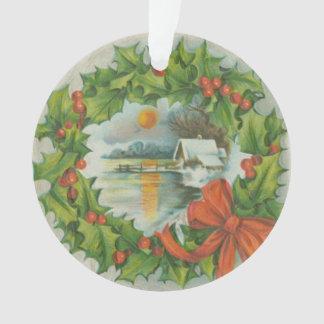 Ciudad de la guirnalda del navidad del vintage