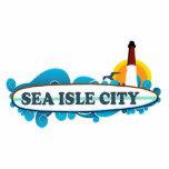Ciudad de la isla del mar escultura fotografica