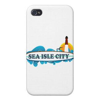 Ciudad de la isla del mar iPhone 4/4S carcasas