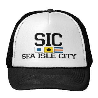 Ciudad de la isla del mar gorras