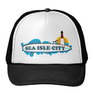 Ciudad de la isla del mar gorro de camionero