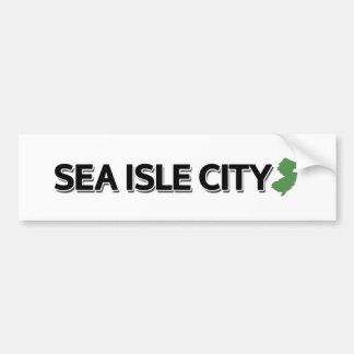Ciudad de la isla del mar, New Jersey Pegatina Para Auto