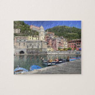 Ciudad de la ladera de Vernazza, Cinque Terre, Lig Rompecabezas