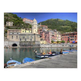 Ciudad de la ladera de Vernazza, Cinque Terre, Postal