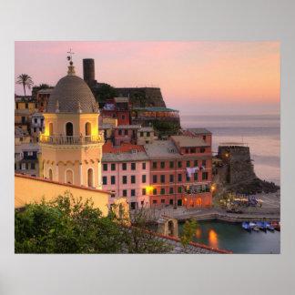 Ciudad de la ladera de Vernazza por la tarde, Cinq Impresiones