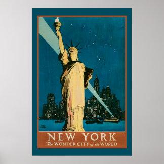 Ciudad de la maravilla de Nueva York del mundo Impresiones