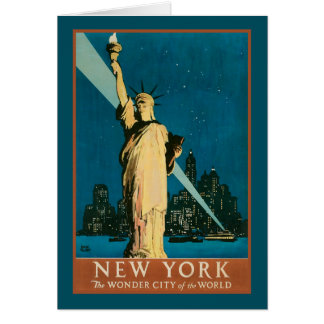 Ciudad de la maravilla de Nueva York del mundo Tarjeta De Felicitación