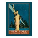 Ciudad de la maravilla de Nueva York del mundo Tarjetas Postales