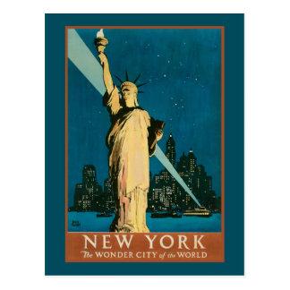 Ciudad de la maravilla de Nueva York del mundo Tarjeta Postal