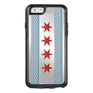 Ciudad de la mirada cepillada bandera del metal de funda otterbox para iPhone 6/6s