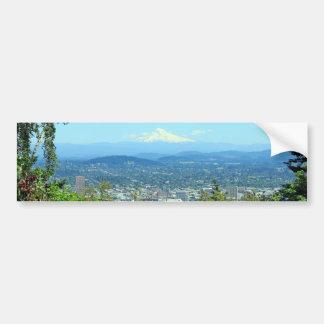 Ciudad de la montaña escénica Portland O Etiqueta De Parachoque