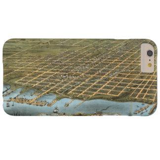 Ciudad de la opinión del ojo de pájaro de Erie Funda Barely There iPhone 6 Plus