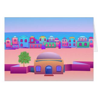 Ciudad de la playa tarjeta de felicitación
