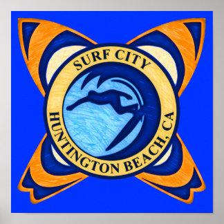 Ciudad de la resaca, Huntington Beach, CA Póster