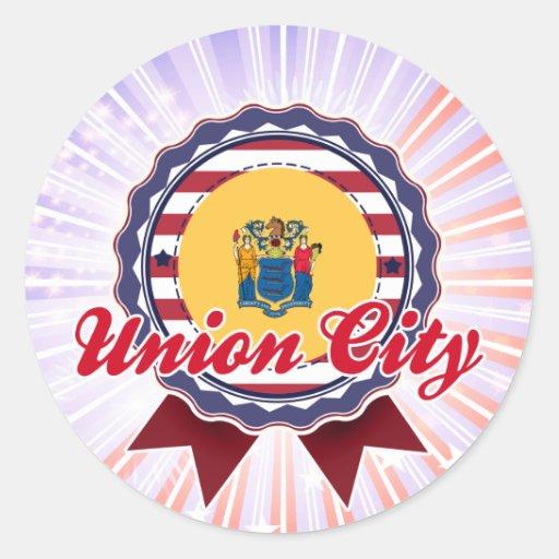 Ciudad de la unión, NJ Pegatinas Redondas