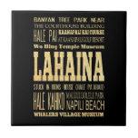 Ciudad de Lahaina del arte de la tipografía de Haw Tejas