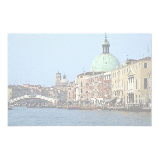 Ciudad de las islas, Venecia, Italia Papeleria Personalizada