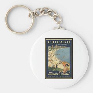 Ciudad de las vacaciones de Paul Proehl Chicago Llavero Redondo Tipo Pin