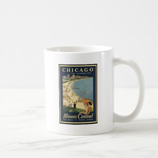 Ciudad de las vacaciones de Paul Proehl Chicago Tazas De Café