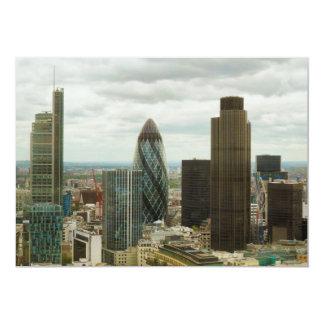 """Ciudad de Londres Inglaterra vista de punto de la Invitación 5"""" X 7"""""""