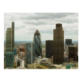 Ciudad de Londres Inglaterra vista de punto de la Postal