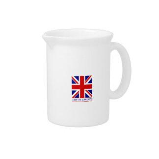 Ciudad de Londres - la bandera de Union Jack Jarras Para Bebida