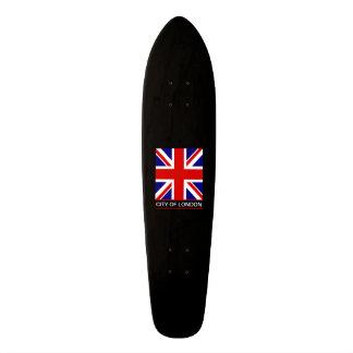 Ciudad de Londres - la bandera de Union Jack Monopatín Personalizado